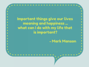 A quote by Mark Manson from the article: 7 strange questions that will help you find your life purpose